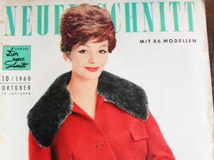 Neuer Schnitt — старый немецкий журнал мод 10/1960. Ярмарка Мастеров - ручная работа, handmade.