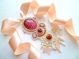 """Мастер-класс по вышивке кулона """"Flower Petals"""". Ярмарка Мастеров - ручная работа, handmade."""