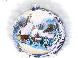 Новогодние игрушки ручной росписи. Ярмарка Мастеров - ручная работа, handmade.