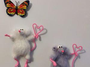 Вяжем мышку-магнит на холодильник. Ярмарка Мастеров - ручная работа, handmade.