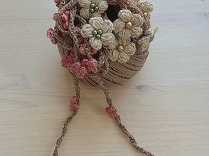 """Цветочный шнурок """"В ожидании Весны"""". Ярмарка Мастеров - ручная работа, handmade."""