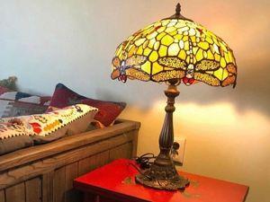 Наша лампа в стиле Тиффани в новом доме!. Ярмарка Мастеров - ручная работа, handmade.