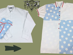 Шьём стильное домашнее платье-рубашку из мужской рубашки. Ярмарка Мастеров - ручная работа, handmade.