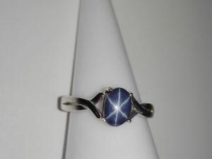 Скидка 10% на Кольцо звездчатый сапфир серебро  «Звездное небо». Ярмарка Мастеров - ручная работа, handmade.