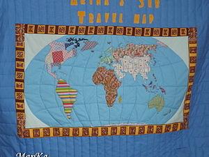Как я шила карту мира. Мастер-класс, часть 1.. Ярмарка Мастеров - ручная работа, handmade.