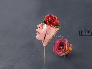 ВИДЕО. Брошь-игла Tranquility из полимерной глины, сюрреализм. Ярмарка Мастеров - ручная работа, handmade.