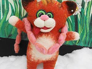 «Как кот украл сосиски»: делаем перчаточную игрушку на шаблоне. Часть 1. Ярмарка Мастеров - ручная работа, handmade.