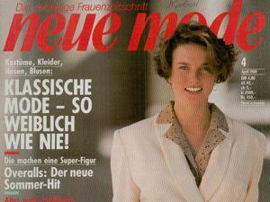 Neue mode 4 1989 (апрель). Ярмарка Мастеров - ручная работа, handmade.