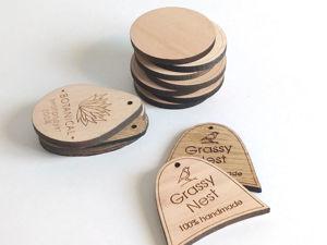 Деревянные бирки с логотипом. Ярмарка Мастеров - ручная работа, handmade.