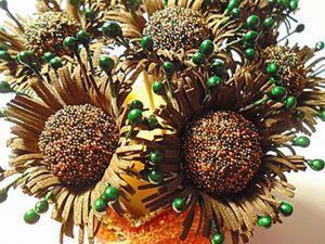 Мастерим объёмную сердцевину для фантазийного цветка из фома. Ярмарка Мастеров - ручная работа, handmade.