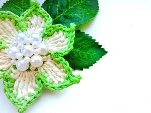 Видеоурок: вяжем цветы крючком. Ярмарка Мастеров - ручная работа, handmade.
