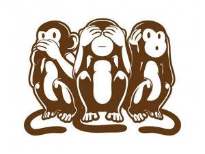 Три мудрые обезьяны. Ярмарка Мастеров - ручная работа, handmade.