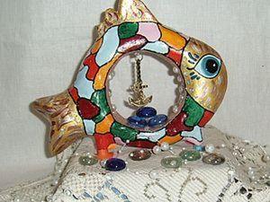"""Мастер-класс """"Рыбка &#8212&#x3B; символ изобилия"""": лепка и роспись. Ярмарка Мастеров - ручная работа, handmade."""