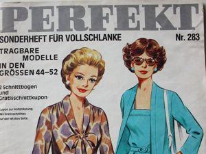 Perfekt- журнал мод из Австрии — Мода для полных. Ярмарка Мастеров - ручная работа, handmade.