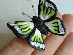 Лепим простую бабочку из полимерной глины или пластилина. Ярмарка Мастеров - ручная работа, handmade.