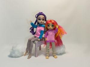 Новые вязанные свитера для кукол. Ярмарка Мастеров - ручная работа, handmade.