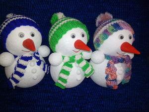 Мастерим снеговика своими руками. Ярмарка Мастеров - ручная работа, handmade.