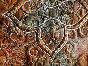 Создаем орнамент в технике фактурного шитья. Трапунто. Ярмарка Мастеров - ручная работа, handmade.