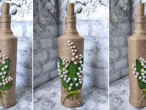 Video Tutorial: Magnificent Bottle Decor with your own Hands. Livemaster - handmade
