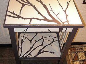 Деревья на тумбочке: декорируем старую мебель. Ярмарка Мастеров - ручная работа, handmade.
