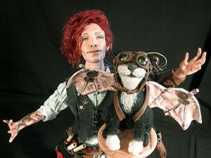 Изобретатель и кот-пилот. Кукольные мечты о полетах!. Ярмарка Мастеров - ручная работа, handmade.