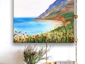 Новая картина. Морской пейзаж. Ярмарка Мастеров - ручная работа, handmade.