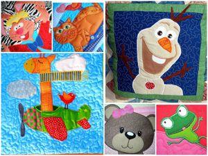 Пэчворк покрывала с аппликациями для детей:). Ярмарка Мастеров - ручная работа, handmade.