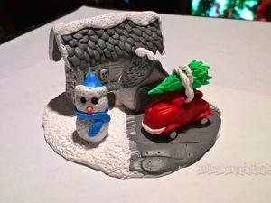 Мастерим Рождественский домик из полимерной глины. Ярмарка Мастеров - ручная работа, handmade.