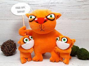 Шьём котиков по Васе Ложкину. Ярмарка Мастеров - ручная работа, handmade.