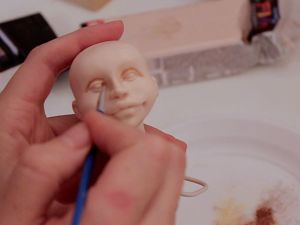 How to Tone Polymer Clay Doll with Dry Pastel. Livemaster - handmade