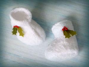 Шьем рождественские валенки для миниатюр. Ярмарка Мастеров - ручная работа, handmade.