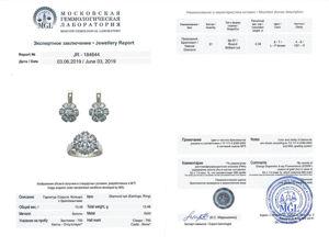 Есть геммологическое заключение на комплект Малинка с бриллиантами!. Ярмарка Мастеров - ручная работа, handmade.