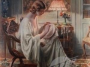 Образ рукодельницы в живописи. Ярмарка Мастеров - ручная работа, handmade.