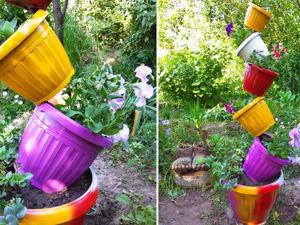 Идея для дачи из цветочных горшков: видео мастер-класс. Ярмарка Мастеров - ручная работа, handmade.