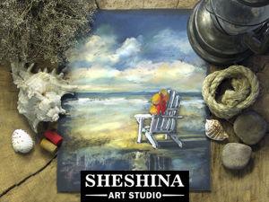 Видеоурок: рисуем пляжный пейзаж сухой пастелью. Ярмарка Мастеров - ручная работа, handmade.