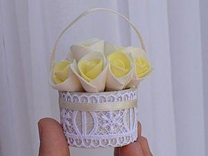 How to Make a Miniature Basket for 30 Minutes. Livemaster - handmade