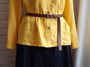 Новая блуза рубашка, желтого цвета в единственном экземпляре!!!. Ярмарка Мастеров - ручная работа, handmade.