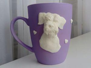 Кружка с декором из полимерной глины, кукла-малышка. Ярмарка Мастеров - ручная работа, handmade.