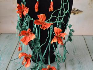 Комплект  «Поцелуи эшшольции». Ярмарка Мастеров - ручная работа, handmade.