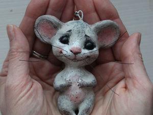 Создаем игрушку. Мышонок подвесной. Ярмарка Мастеров - ручная работа, handmade.