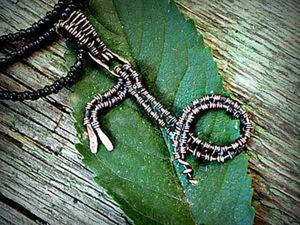 Создаем кулон «Козерог» в технике wire work. Ярмарка Мастеров - ручная работа, handmade.