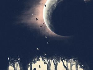 Лунное затмение 21.01. Ярмарка Мастеров - ручная работа, handmade.