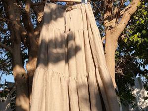 Льняная юбка -50%. Ярмарка Мастеров - ручная работа, handmade.