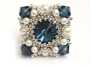Создаем кольцо из бисера и кристаллов Swarovski  «Реноме». Ярмарка Мастеров - ручная работа, handmade.