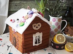 Шьем «Пряничный домик» — фетровую грелку на чайник. Ярмарка Мастеров - ручная работа, handmade.