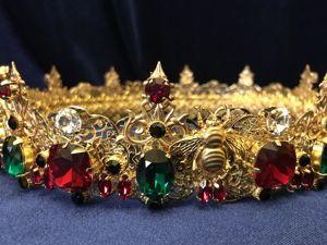 Мужская корона  «пЧелы» . Ярмарка Мастеров - ручная работа, handmade.