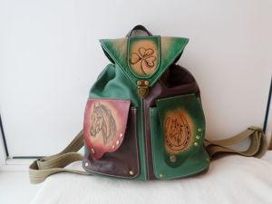 АЦИЯ!Кожаный рюкзак по супер цене. Ярмарка Мастеров - ручная работа, handmade.