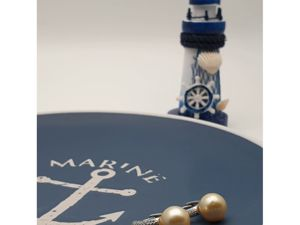 Серьги с морским жемчугом «Яхт клуб» серебро 925. Ярмарка Мастеров - ручная работа, handmade.
