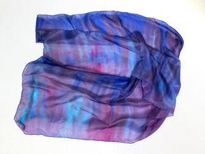 Роспись по шелковой ткани в технике свободной росписи: видеоурок. Ярмарка Мастеров - ручная работа, handmade.