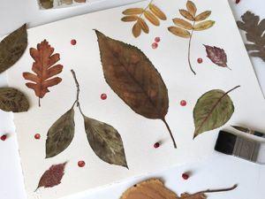 Осеннее настроение. Новая акварель. Ярмарка Мастеров - ручная работа, handmade.